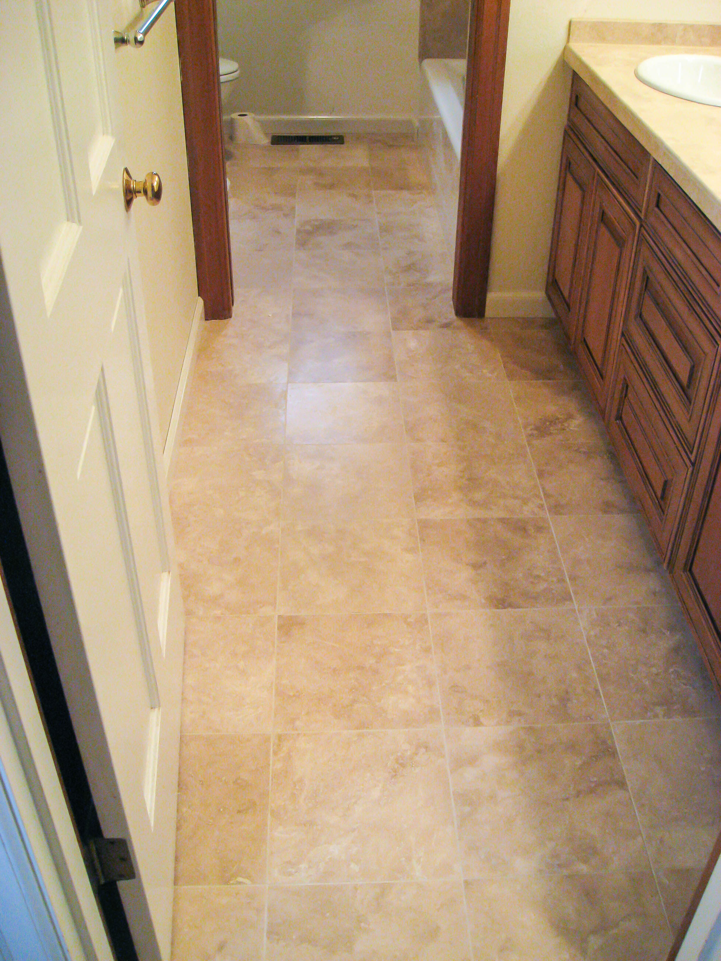 Bathroom Floors - Seattle Tile Contractor
