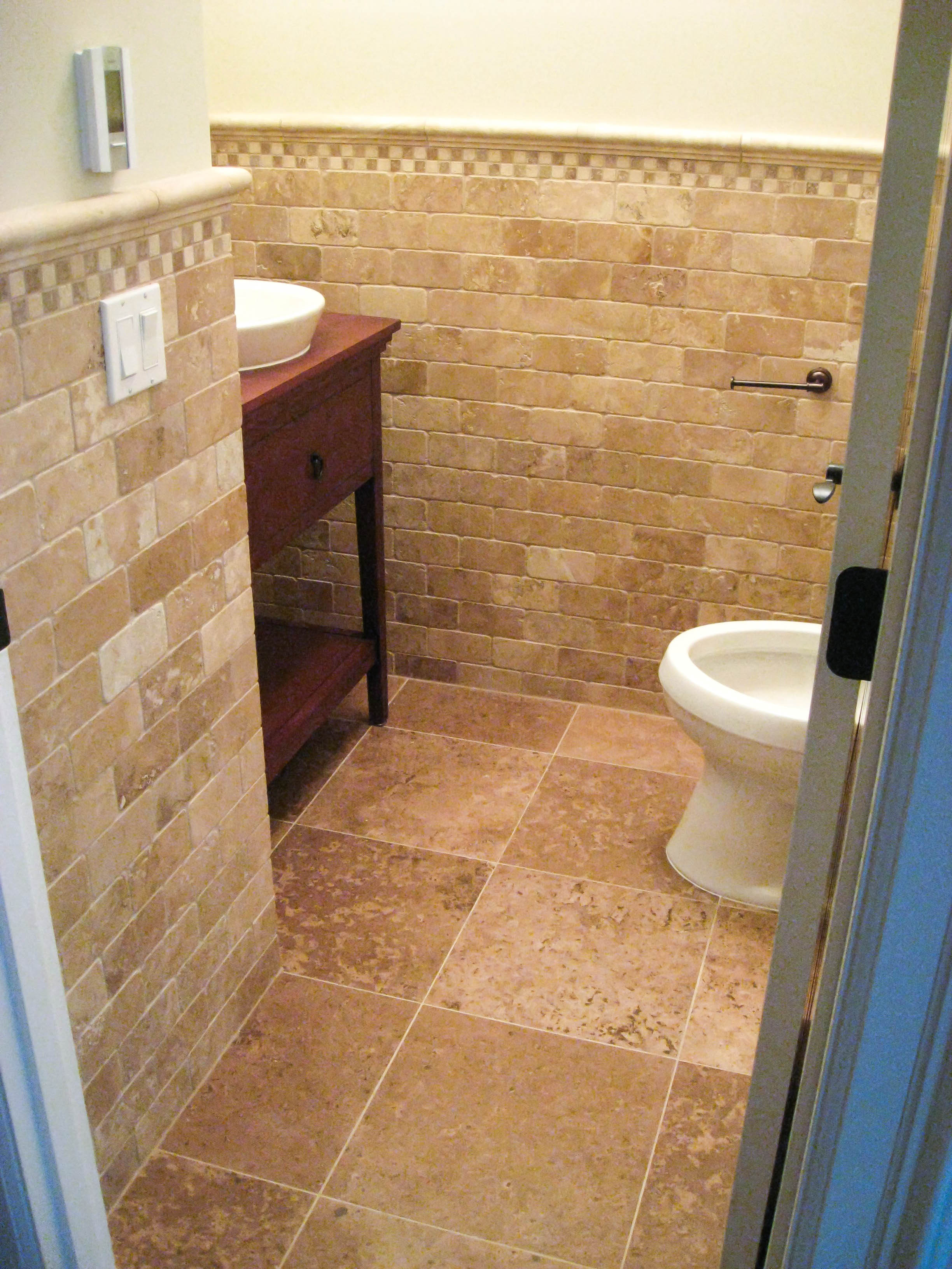 Bathroom wainscoting gallery tile contractor irc tiles Bathroom tile pictures gallery