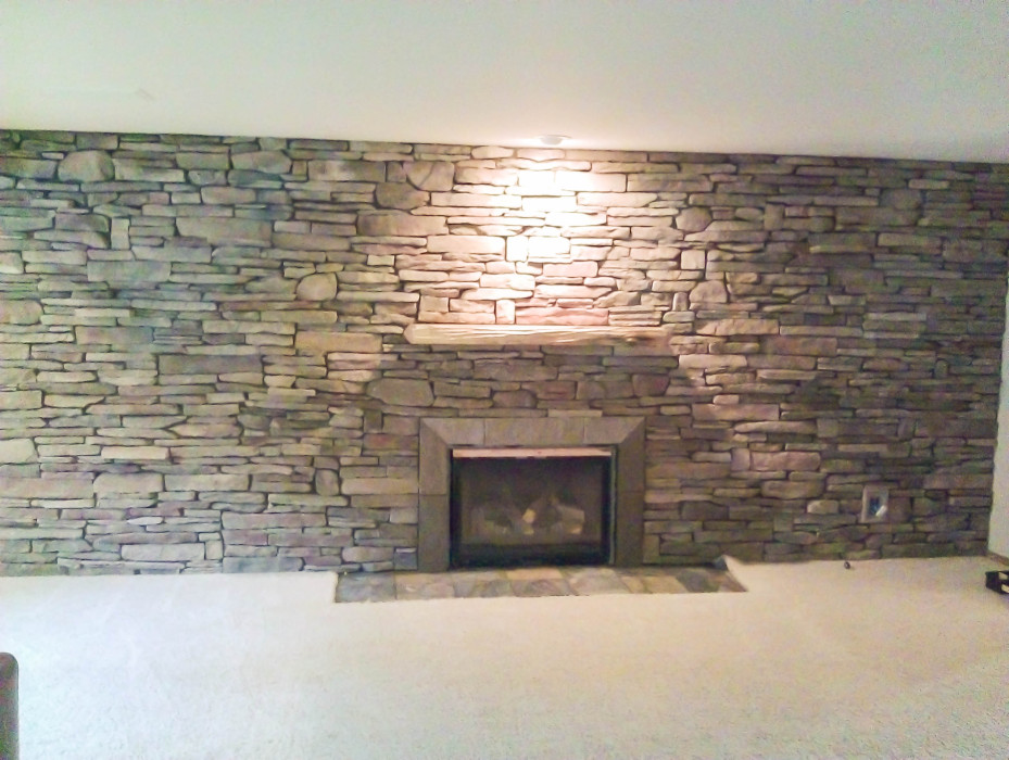 seattle tile contractor, stone fireplace, tile fireplace, tile ...